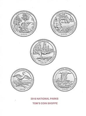 2018 National Park Quarters Complete P&d Set (10 Coins) ***in Stock****