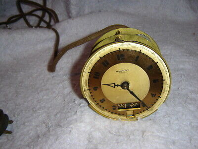 Vintage Hammond Synchronous with Days AC Mantle Clock Face ONLY    NOT TESTED