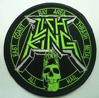 LICH KING embroidered patch Gama Bomb Warbringer Bonded By Blood Toxic Holocaust
