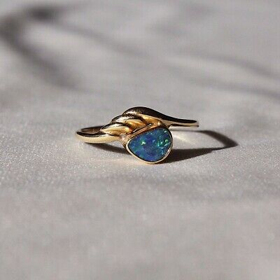 Boulder Opal 9ct Yellow Gold Ring