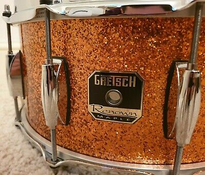 "Gretsch Renown Maple 14"" x 6.5"" Deep Inca Gold Sparkle Snare Drum"