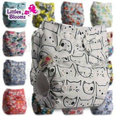 Reusable Diaper Baby Washable Real Cloth STANDARD Hook-Loop Pocket Nappy Cover