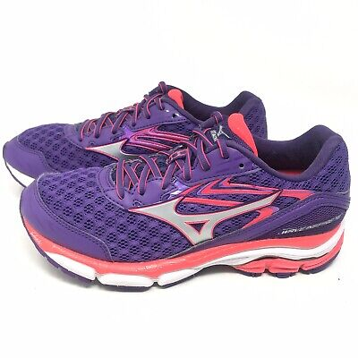cheap for discount c5f46 132bd Mizuno Womens Sz 8 M Wave Inspire 12 Running Shoes Sneakers Purple Pink