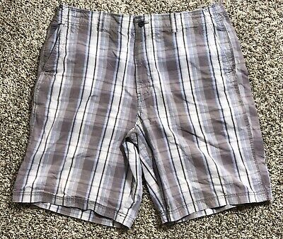Transcript Shorts 36 Mens Plaid Checkered Casual 36W