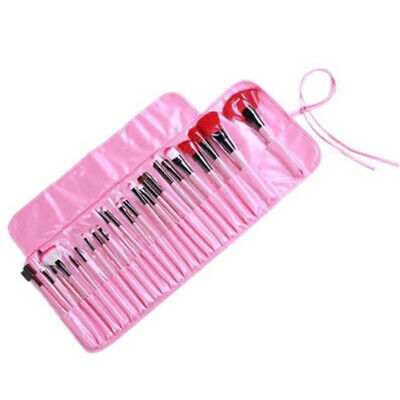 New Set Of 24 Professional Pieces Pink Make-Up Brushes Women Make-Up Tools EA