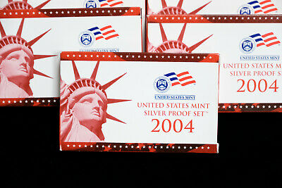 2004 S SILVER Proof Set US Mint 11 Coins IN Box WITH COA AND State Quarters