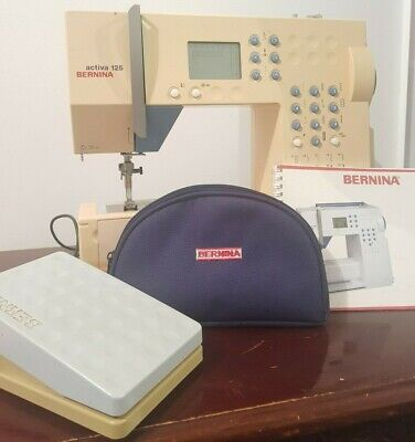 Bernina Activa 125 Sewing Machine + Case, Accessories, Pedal, Instruction Manual