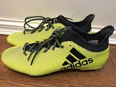 a39d4b191 adidas Performance Mens X 17.3 FG Soccer Cleats Boots Shoes S82366 Sz 11  Yellow