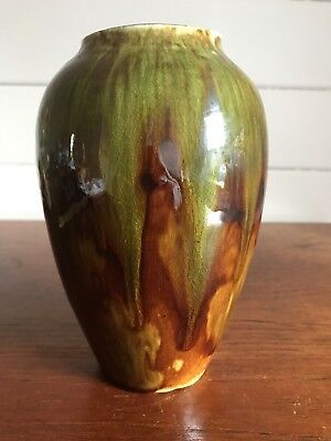 Vintage Australian Studio Pottery Vase/Lamp Base Signed M Bower 1937