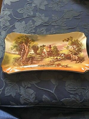 Gorgeous Vintage Royal Doulton 'Rustic England' Series Ware Sandwich Tray