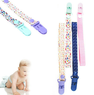 1*RANDOM Toddler Infant Baby Safe Dummy Soother Nipple Leash Strap Clip Holder