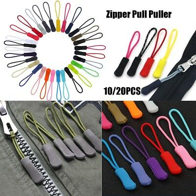 Zipper Pull Cord Rope Puller Ends Lock Zip Clip Buckle For Clothing Backpack Bag