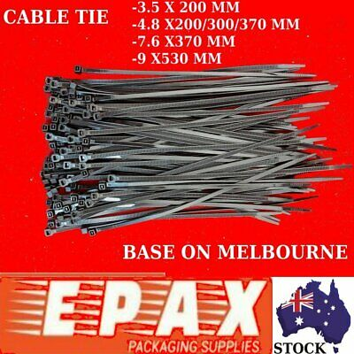 Cable Ties Zip Ties Nylon UV Stabilised 25/100/500/1000 PCS Bulk Black Cable TIE