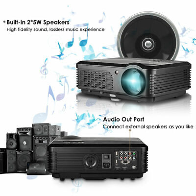 2019 6000 Lumens Android Wifi BT 1080p HD Projecteur LED Maison Théâtre Airplay