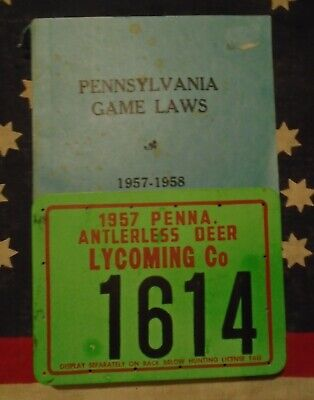 PENNSYLVANIA 1957 VINTAGE License Plate Old Antique Metal Car Truck