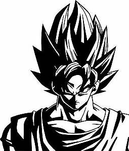 Super Super Saiyan Goku 5 X 7 Vinyl Car Truck Window Decal