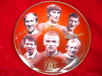 3a6129779 Fabulous Manchester United Plate David Beckham George Best 100 Yrs Gift