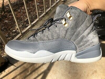 outlet store 8320f 23a02 NIKE AIR JORDAN 12 Retro Dark Grey Wolf Grey Suede 130690 005 Men's Size 10