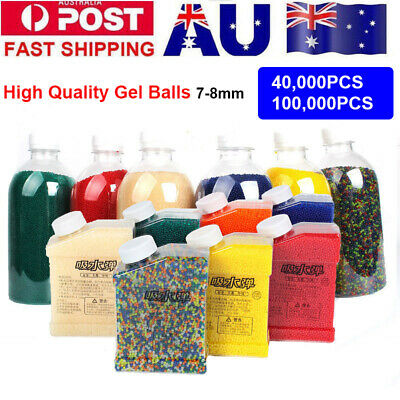 High Quality Gel Balls Hardened Ammo Water Beads for 7-8MM Gel Ball Blaster Toy