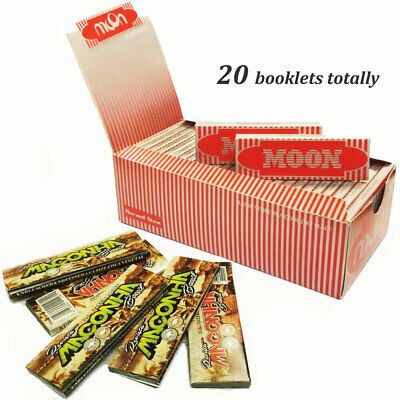 "Moon Red 1.0"" 20 booklets 70*36mm Cigarette Rolling Papers Wood Papers & MA*ONHA"