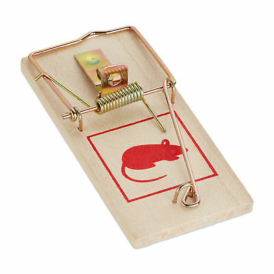 Set of 12 Wooden Mousetraps, Animal Trapping, Rodent Traps
