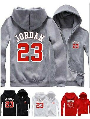 64cf71705d68 Mens Hoodie Michael Jordan 23 Hooded Jacket Men Zip Up Sweatshirt Jumper  Coat