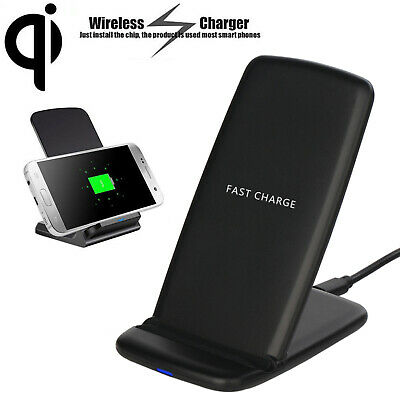 2 Coins Wireless Charger QI Fast Charging Stand For Smartphone