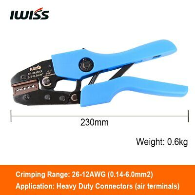 IWISS Hand Crimping Tools AN-0540HX Crimper Pliers for Crimping 26-12AWG
