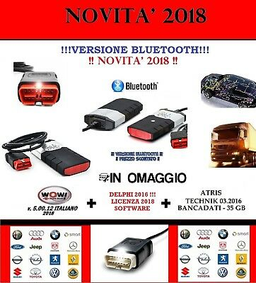 Diagnosi  Autodiagnosi Professionale Multimarca 2018 Bluetooth Con Fiat 500X