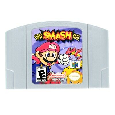for Nintendo 64 N64 Super Smash Bros Video Game Cartridge US Version