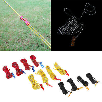 Neon Reflective Guyline Camping Tent Tarp Rope Cord Paracord Guide High Quality