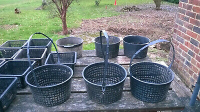 Pond Baskets (17), small and medium sizes, black