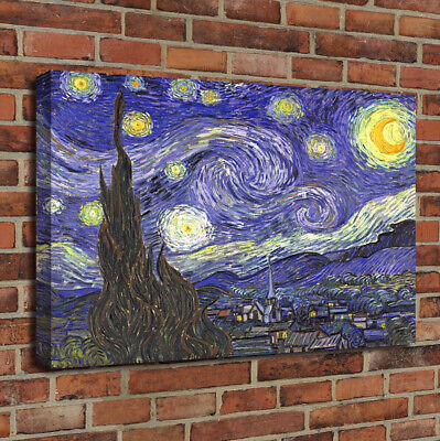 Starry Night by Vincent Van Gogh Giclee Fine Art Print Oil Painting on Canvas