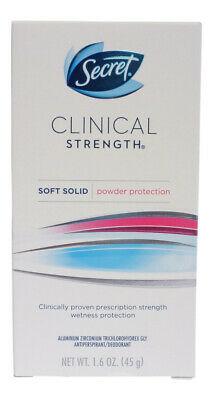 Secret Clinical Strength Soft Solid Deodorant Anti perspirant Powder Protection
