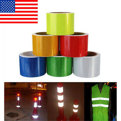 3m Car Truck Reflective Safety Warning Conspicuity Roll Tape Film Sticker Deca P