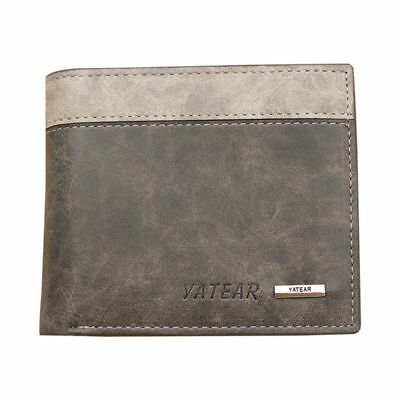 Mens Luxury Soft Quality Leather Wallet Credit Card Holder Purse ID Window  P5O3