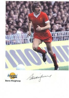 Steve Heighway signed Westminster Autographed Editions Liverpool autograph