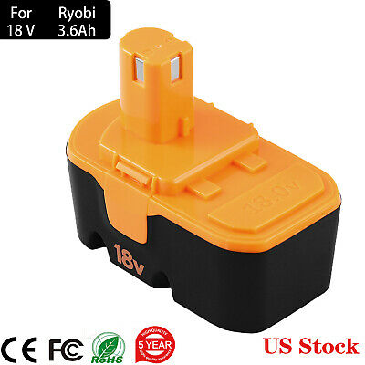 3.6Ah Extended Capacity Battery for Ryobi 18V One+Plus P100 P101 ABP1801 ABP1803