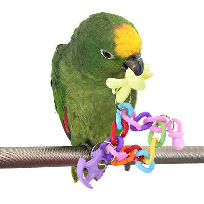 1x Colorful Bird Parrot Swing Cage Toy Top For Parakeet Cockatiel Lovebird