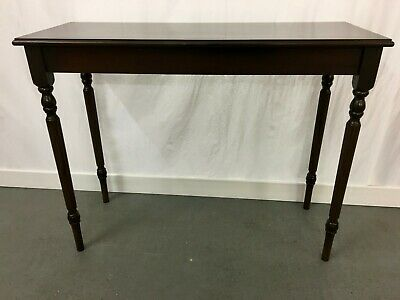 Mahogany veneer reproduction hall - console table with inlaid top #2278