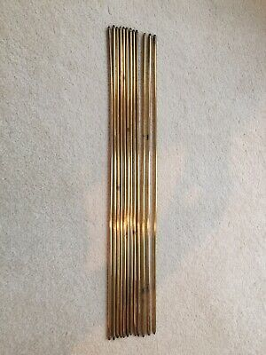 12 Solid Brass Stair Rods Victorian