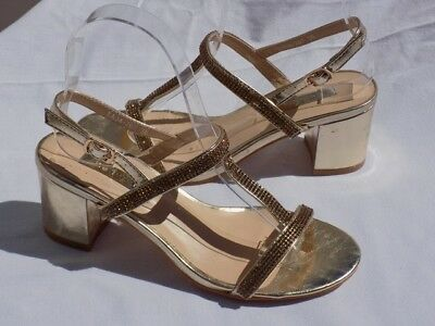 7d824762e6afd5 Sandales Chaussures Femme Soiree Cocktail Star Or Strass T 36 37 38 39 40 41