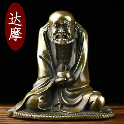 china hand engraving Buddhism old copper Bodhidharma Buddha Bowl statue