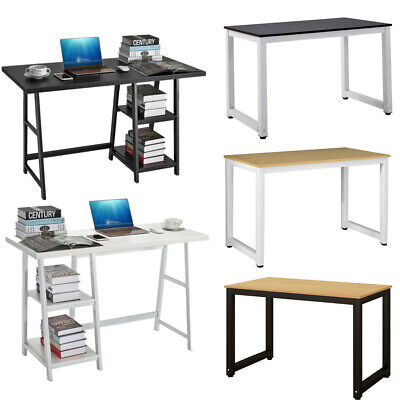 Modern Home Office Computer Desk Metal PC Laptop Student Study Table Workstation