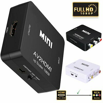 Composite HD 1080P HDMI to RCA Audio Video AV CVBS Adapter Converter for HDTV