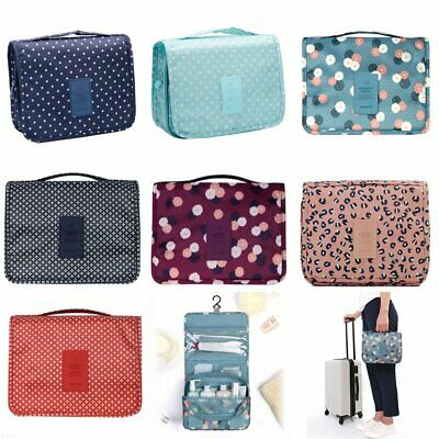 Travel Cosmetic Storage MakeUp Bag Folding Hanging Organizer Pouch Toiletry BO