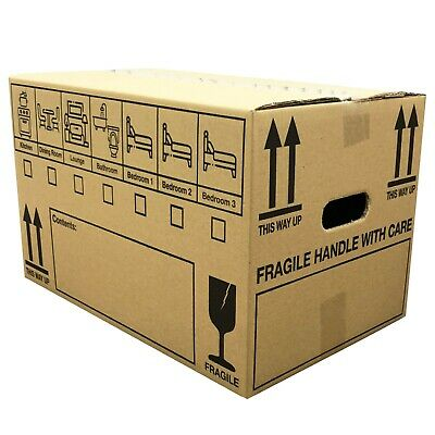 "NEW 10 X LARGE 18x12x12"" STRONG DOUBLE WALL Cardboard House Moving Removal Boxes"