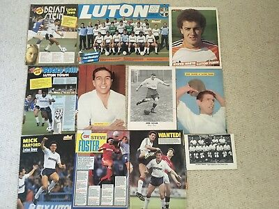 Football Magazine Team Group & Player Picture Posters Luton Town