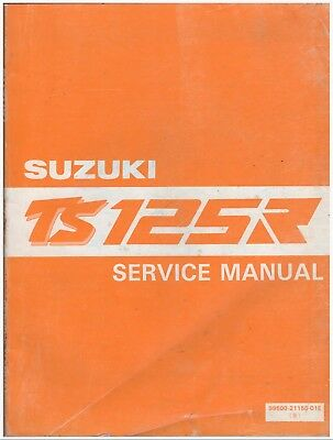 Manuale di Officina - Service Manual - Shop Manual - Suzuki TS125R 1989