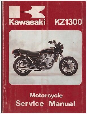 Manuale di Officina - Service Manual - Kawasaki KZ1300 dal 1979 al 1981
